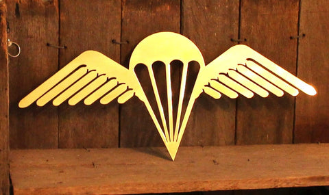 3 RAR Para Wings BRASS Metal Art - Australian Army Art - FREE SHIPPING IN AUS