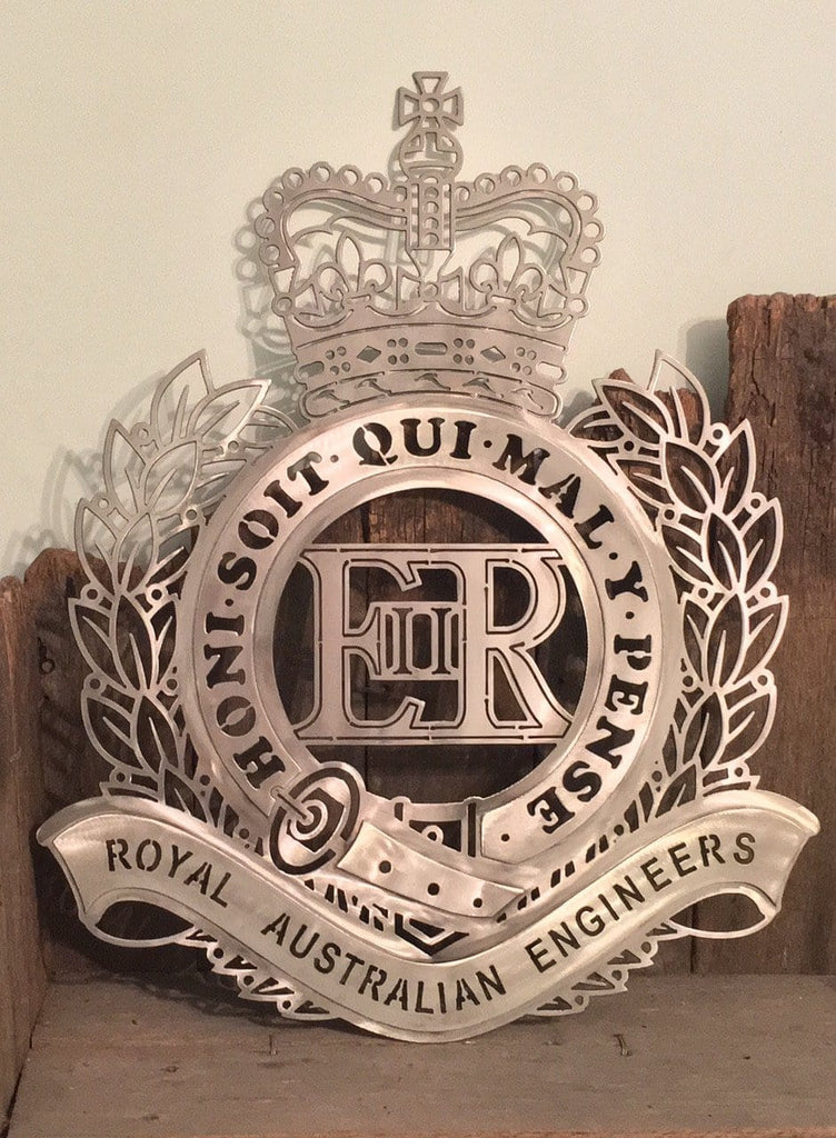 Royal Australian Engineers Badge In Stainless Steel Free