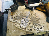"Rising Sun Badge in ""Stainless Steel""**FREE SHIPPING WITHIN AUSTRALIA** - Australian Custom Metalwork Designs"
