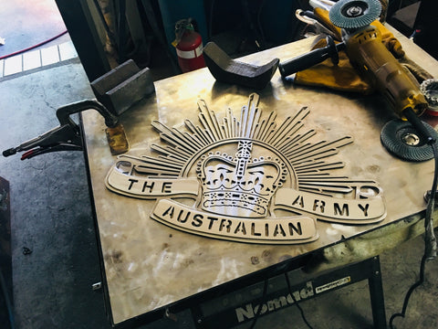 "Rising Sun Badge in ""Stainless Steel""**FREE SHIPPING WITHIN AUSTRALIA**"