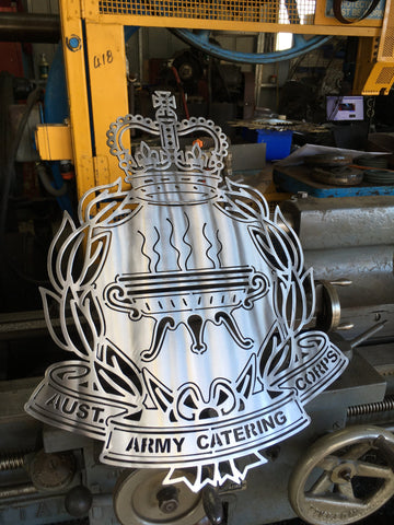 Australian Army Catering Corps - AACC Metal Art Badge - 316 Stainless Steel - Australian Army Art- FREE POSTAGE AUS