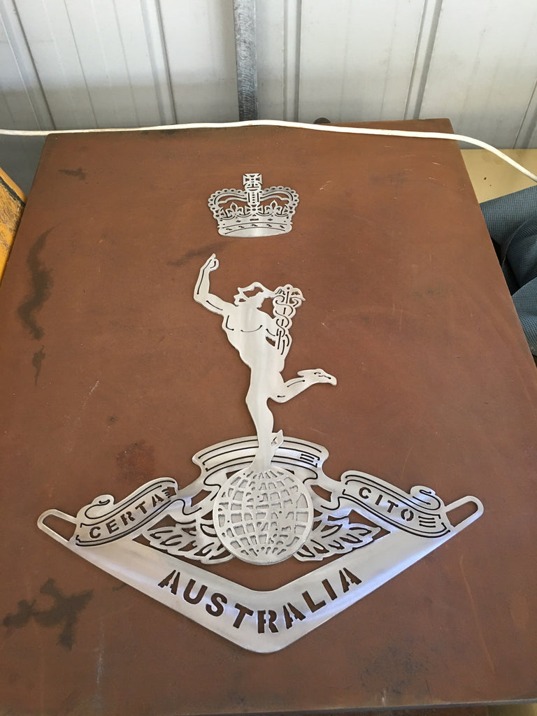 Royal Australian Corps of Signals RASigs 316L Stainless Steel **FREE SHIPPING IN AUSTRALIA** - Australian Custom Metalwork Designs