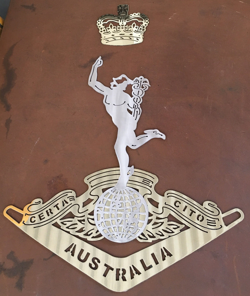 Royal Australian Corps of Signals RASigs in European Brass & 316L Stainless Steel **FREE SHIPPING IN AUSTRALIA** - Australian Custom Metalwork Designs
