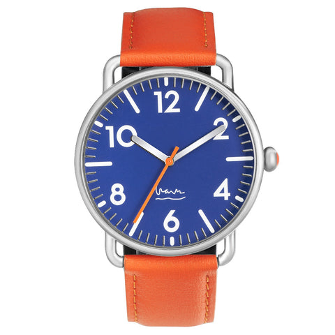 Michael Graves Unisex Witherspoon Watch in Navy & Leather