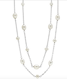 "Hamilton Jewelers Freshwater Pearl 36"" Station Necklace"