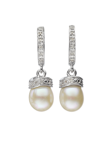 Hamilton Jewelers Sterling Silver & Freshwater Pearl Earrings