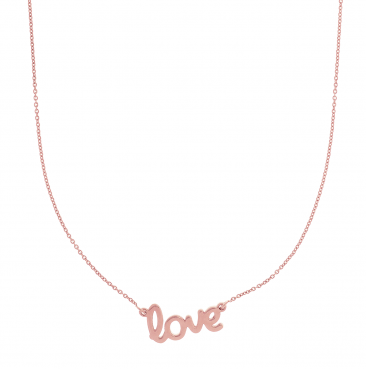 14K Rose Gold Love Pendant from Hamilton Jewelers