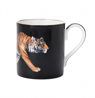Halcyon Days Tiger Mug from Hamilton Jewelers