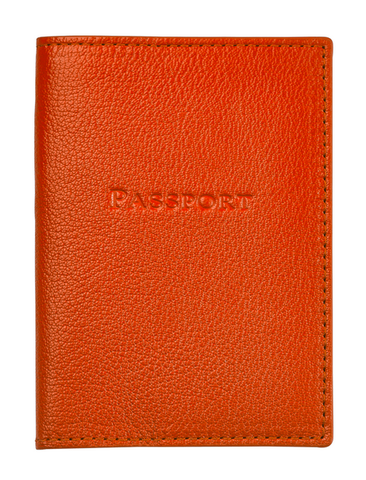 Orange Passport Holder from Hamilton Jewelers