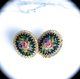 Vintage Cufflink Earrings