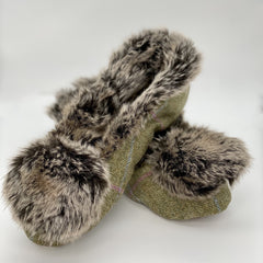 Tweed slipper
