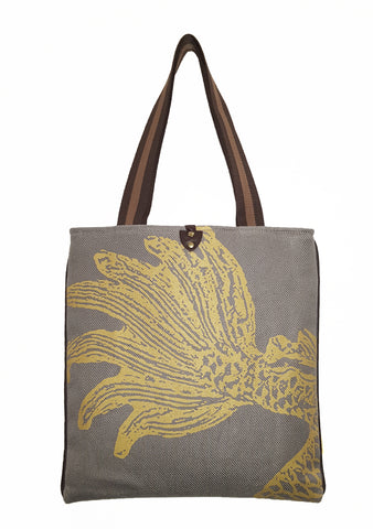 Dragon T  Twill Linen Slim Tote Gray