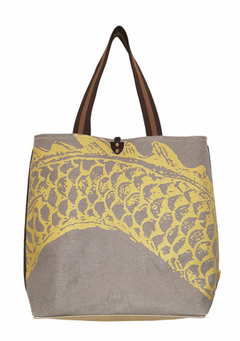Dragon B Twill Linen Casual Tote