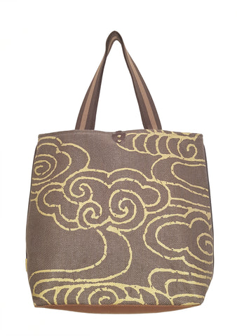 Cloud Twill Linen Casual Tote Brown