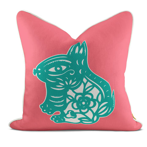 Rabbit Pink Pillow Case