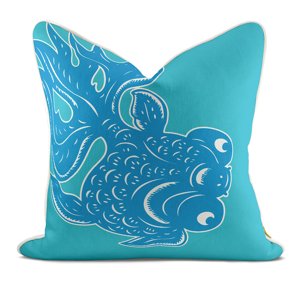 Goldy Aqua Pillow Case