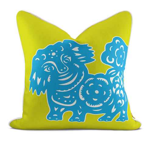 Foo Dog Citrus Pillow Case