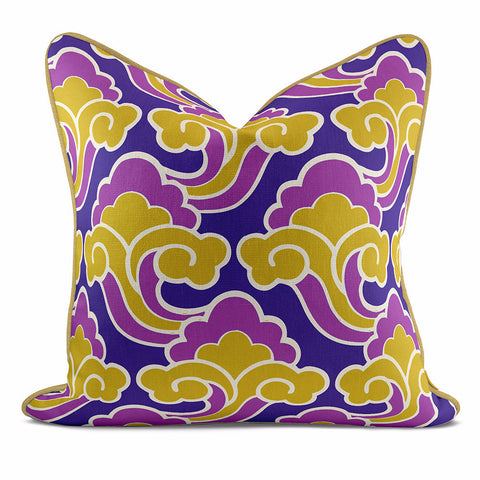 Golden Cloud Pink Purple Pillow Case