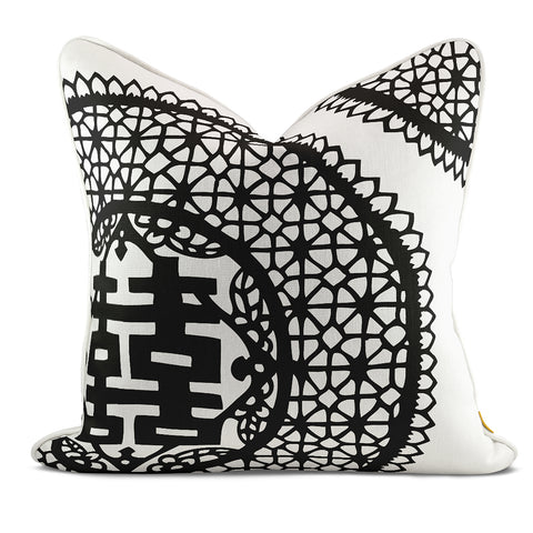 Double Joy Black Pillow Case