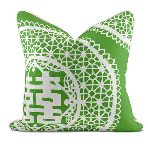 Double Joy Green Pillow Case