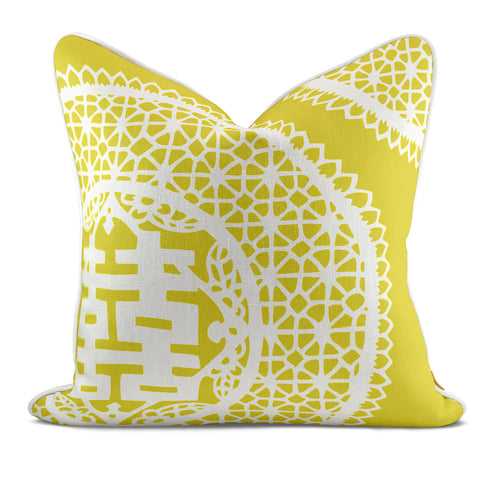 Double Joy Yellow Pillow Case