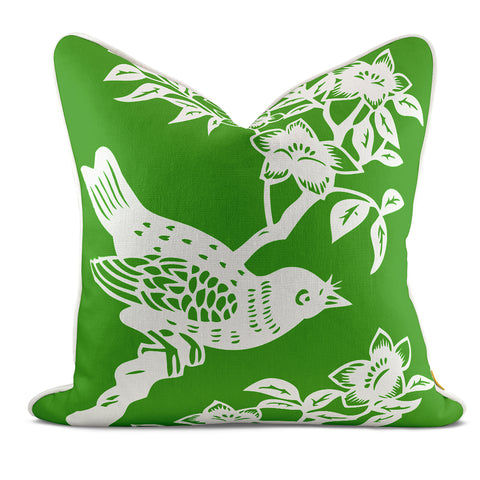 Bird On Branch Blue Pillow Case