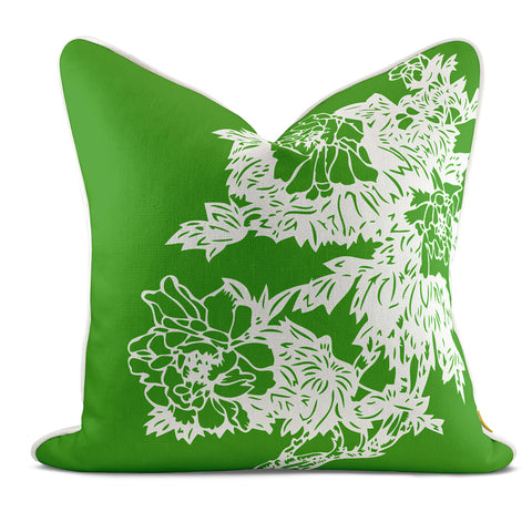 Peony Garden Green Pillow Case