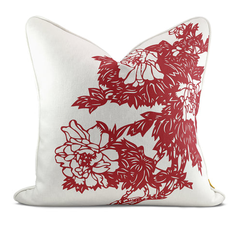 Peony Garden Red Pillow Case