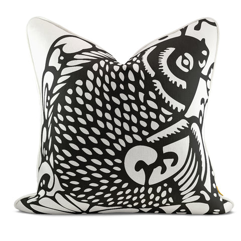 Leaping Fish Black Pillow Case