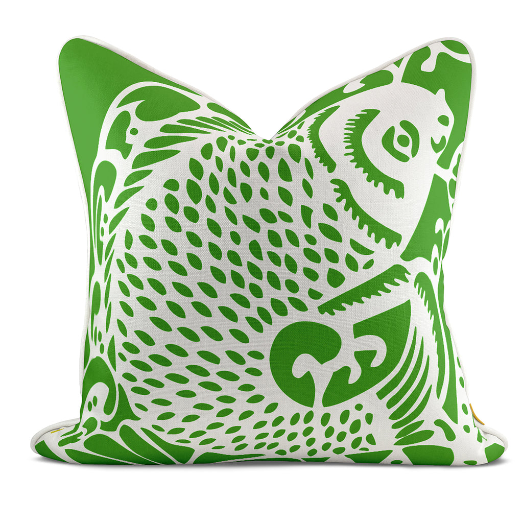 Leaping Fish Green Pillow Case