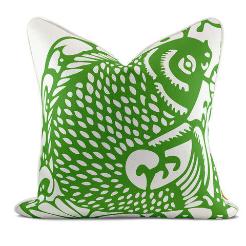 Leaping Fish Teal Pillow Case