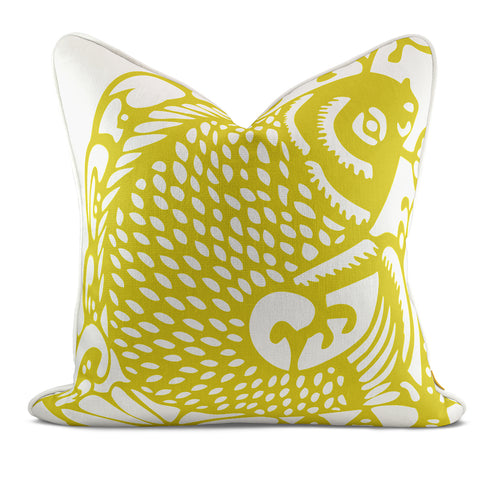 Leaping Fish Yellow Pillow Case