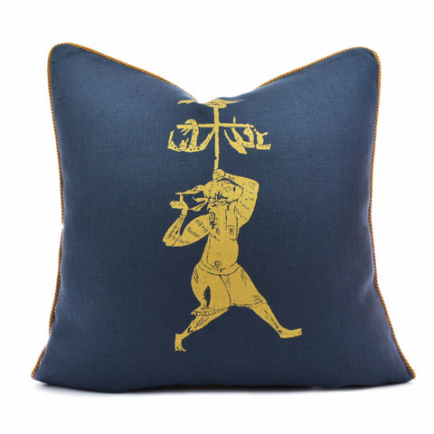 Solo Navy Gold Pillow Case