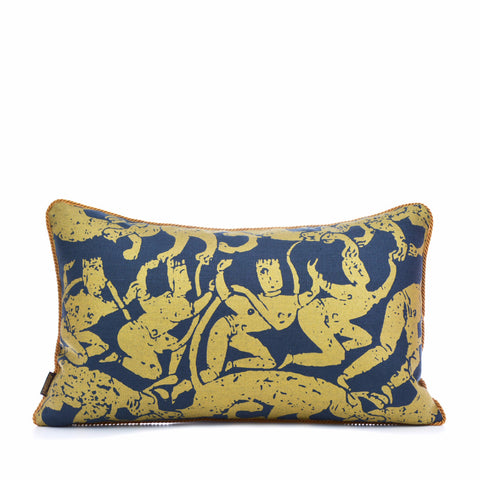 Sabre Dance Navy Gold Pillow Case