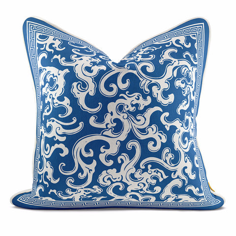 Dragon Navy Blue Pillow Case