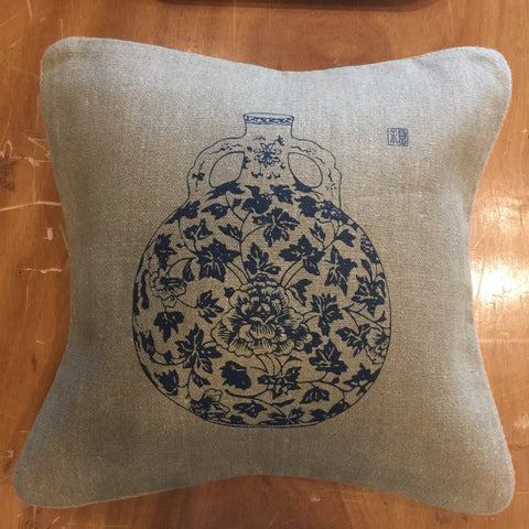 "20""x20"" single print jute pillow case"
