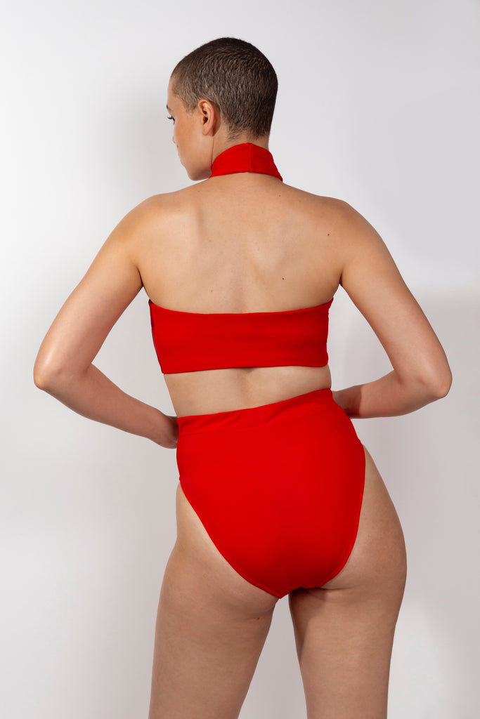 Russian Red T Swim Suit