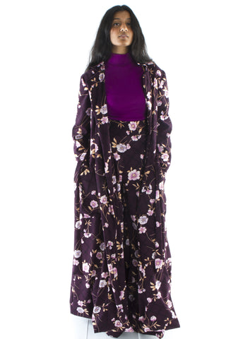 Lori Floral Trench Coat