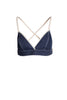 Triangle Raw Denim Bra
