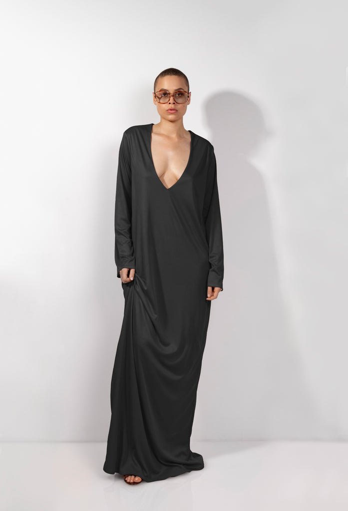 Black Essential Casual Gown
