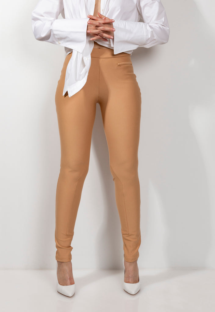 Sand Slip on Ponte Legging