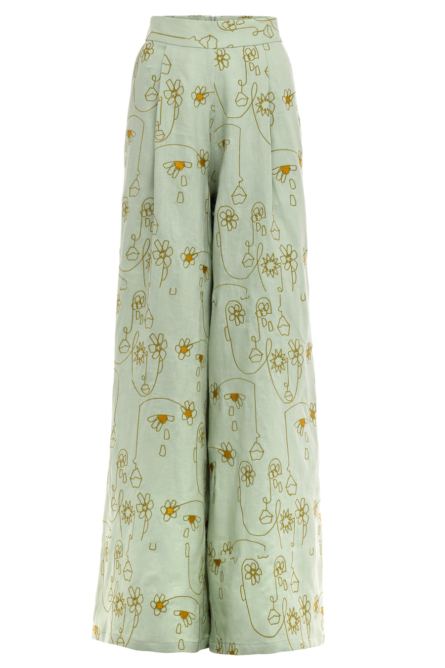 Bloom Again Embroidered Pant
