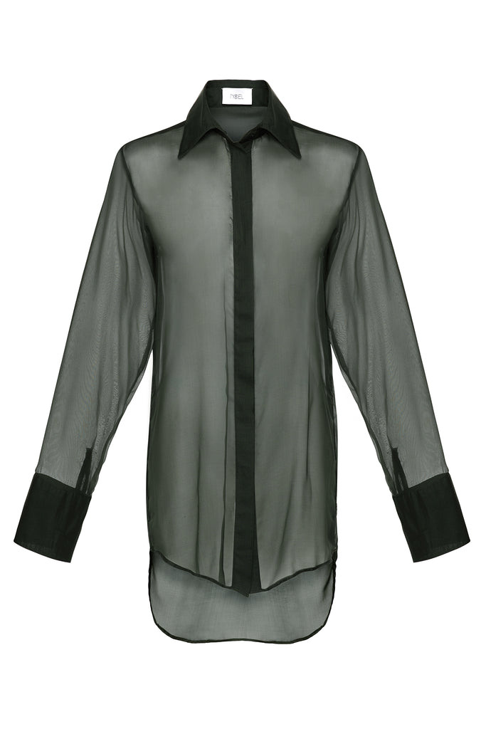 Hunter Silk Sheer Blouse