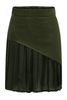 Hunter Green Sass Pleated Skirt