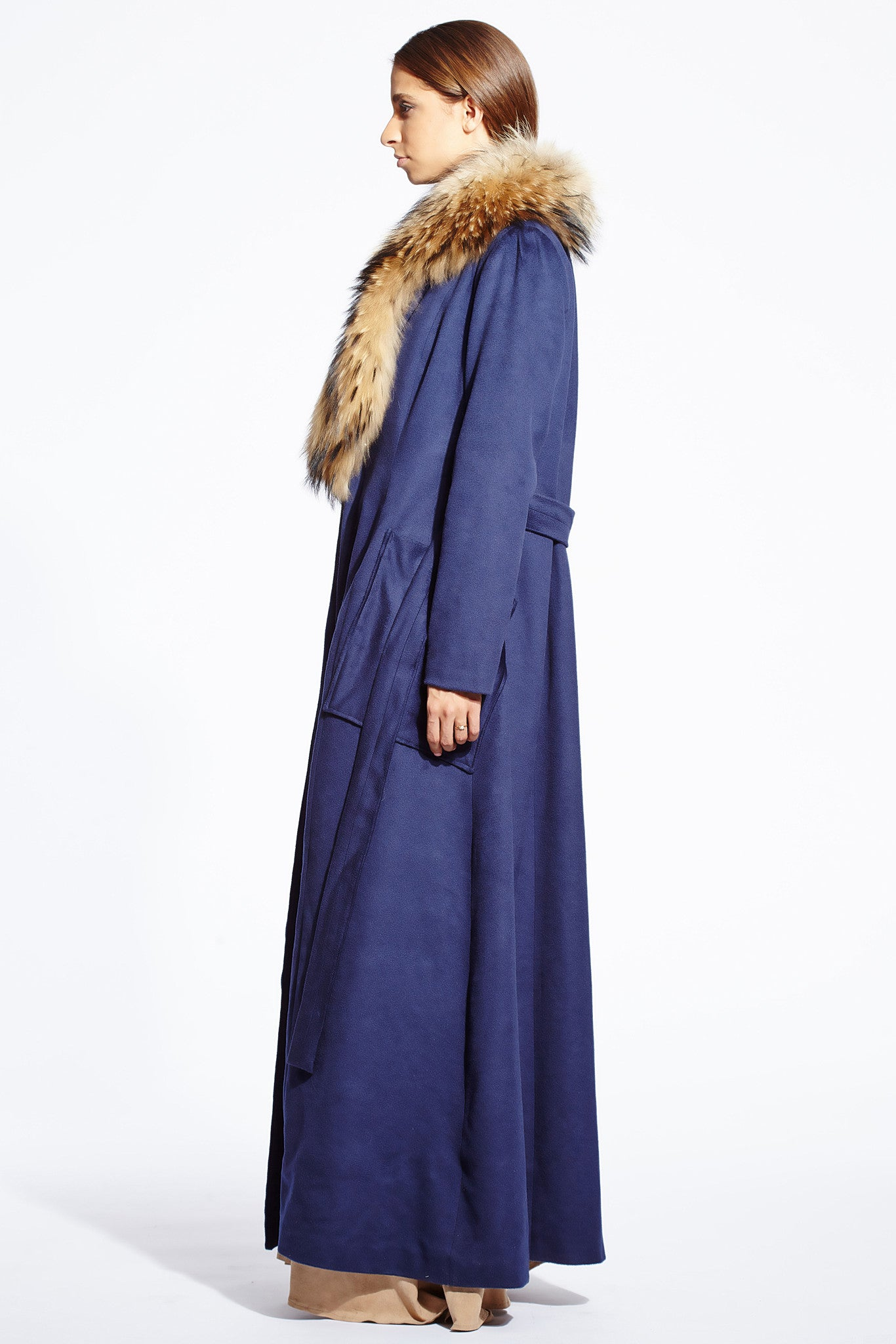 Jagger wool fur coat