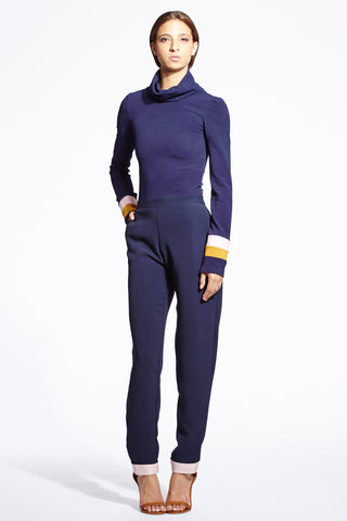 Gemini rib turtleneck