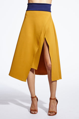 Carrie asymmetrical layered skirt