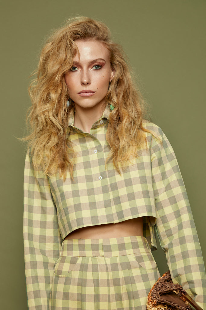 Welfed Button Up Crop Top