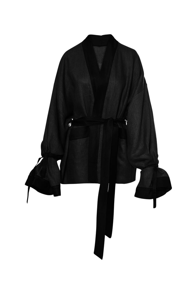 Midnight Cropped Robe