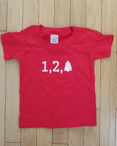 One Two Tree Toddler Red Tee